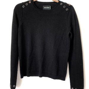 Zadig & Voltaire Black Grommet Sweater